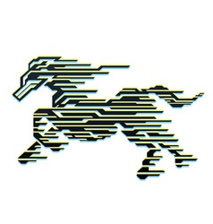 Horse of speed vector