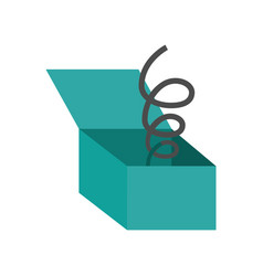 Funny surprise box isolated icon vector