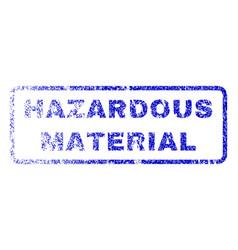 hazardous material rubber stamp vector image
