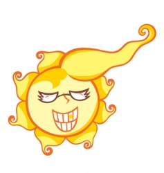 Mr sun shine vector