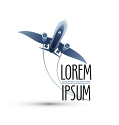 Airplane logo icon emblem template vector
