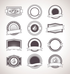 Vintage badges Retro Labels vector image
