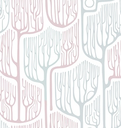 Seamless pattern with stylized trees winter vector