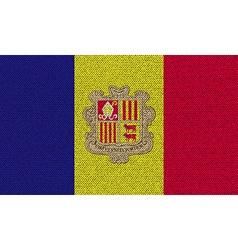Flags andorra on denim texture vector