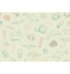 Seamless marine background vector image