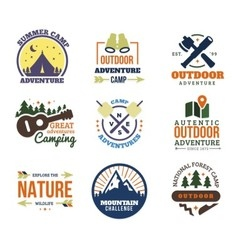 Outdoor adventure logo vector