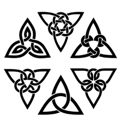 Celtic trinity knot set vector