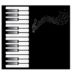 Piano note vector