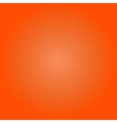 Dots on orange background pop art background vector