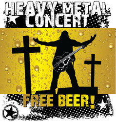 Heavy metal concert - free beer vector