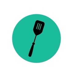 Spatula for pancakes silhouette vector