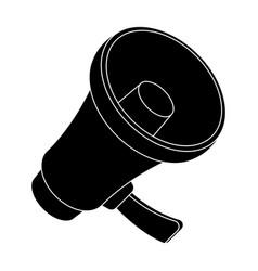 a football fan shoutfans single icon in black vector image