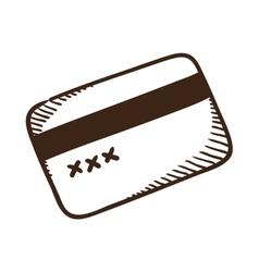 Bank credit card symbol vector