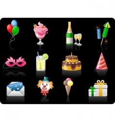 birthday black background vector image