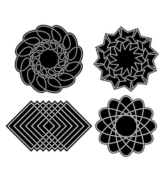 Black geometric elements for design - set vector