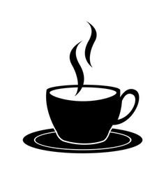 black icon coffee cup cartoon vector image vector image
