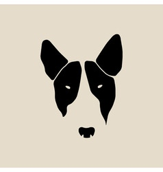Bull terrier face Dog head vector image vector image