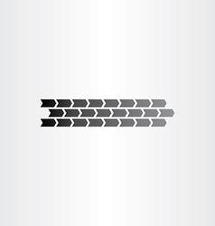 car wheel print design element vector image