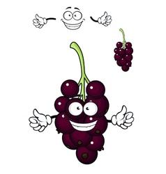 Cartoon bunch of currant berries vector image vector image