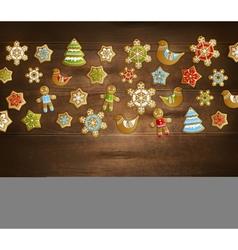 Christmas toys template vector