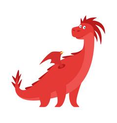 cute red dragon vector image vector image