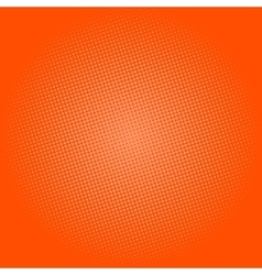 Dots on orange background pop art background vector