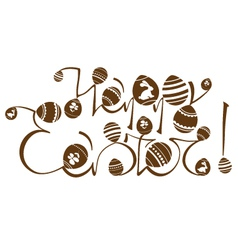 Easter logo design vector image vector image