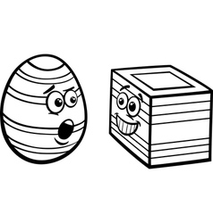 easter square egg coloring page vector image vector image