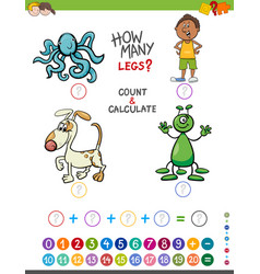 Educational addition game for kids vector