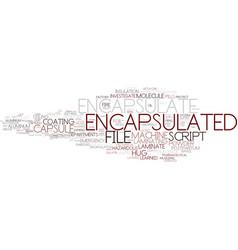 Encapsulate word cloud concept vector