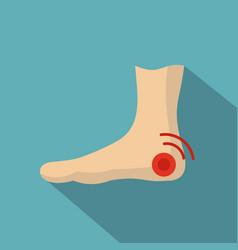 Foot heel icon flat style vector