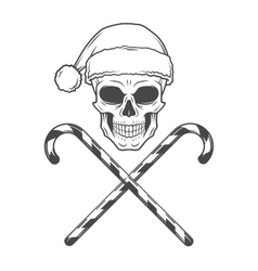 Heavy metal christmas with candy canes design bad vector