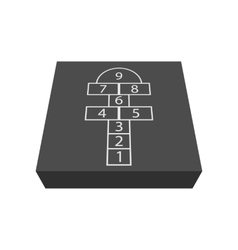 Hopscotch game cartoon icon vector image