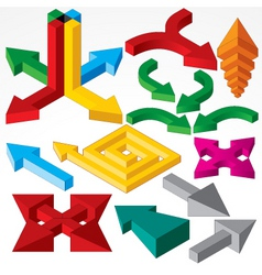isometric arrows vector image
