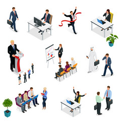 Isometric business negotiations trendy isometric vector