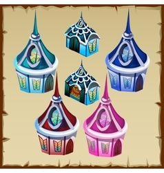 Miniature houses as decor item for other needs vector