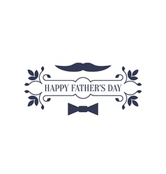 Minimalistic greeting card for Fathers Day vector image vector image