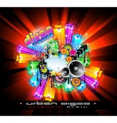 nightlife disco vector image