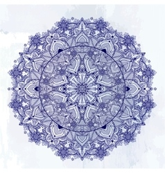 Ornate paisley round lace mandala vector image vector image
