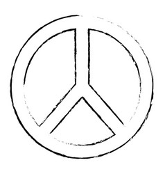Peace and love symbol emblem icon vector