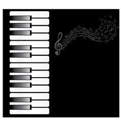 Piano note vector