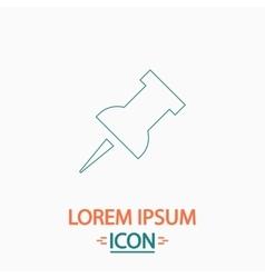 Pushpin computer symbol vector
