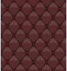 Seamless Brown Upholstery Leather vector image vector image