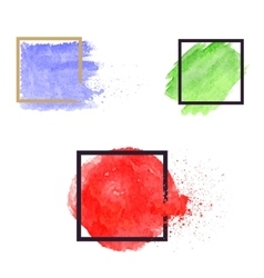 Set of brush stains abstract vector