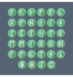 Set of Old Norse Scandinavian runes vector image