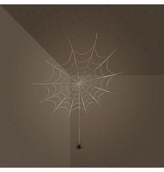 Spiderweb and spider background vector
