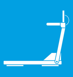 Sport treadmill running road equipment icon white vector