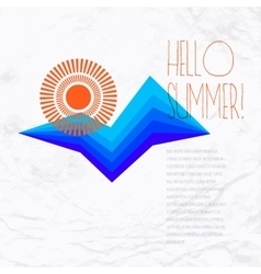 Sun wave illlustration vector image vector image