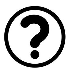 The question mark in a circle icon vector