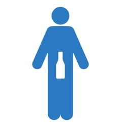 WC Man Flat Icon vector image vector image